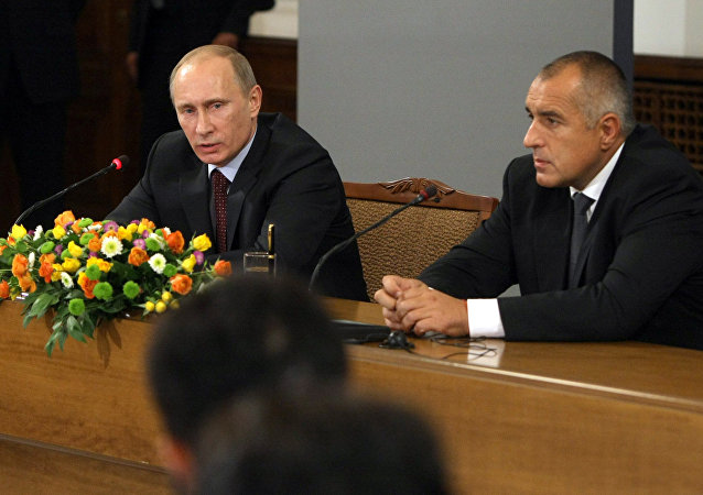 Russian Prime Minister Vladimir Putin and Bulgarian Prime Minister Boyko Borissov give news conference