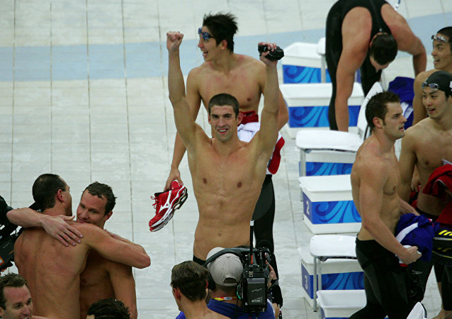 US swimmer Michael Phelps