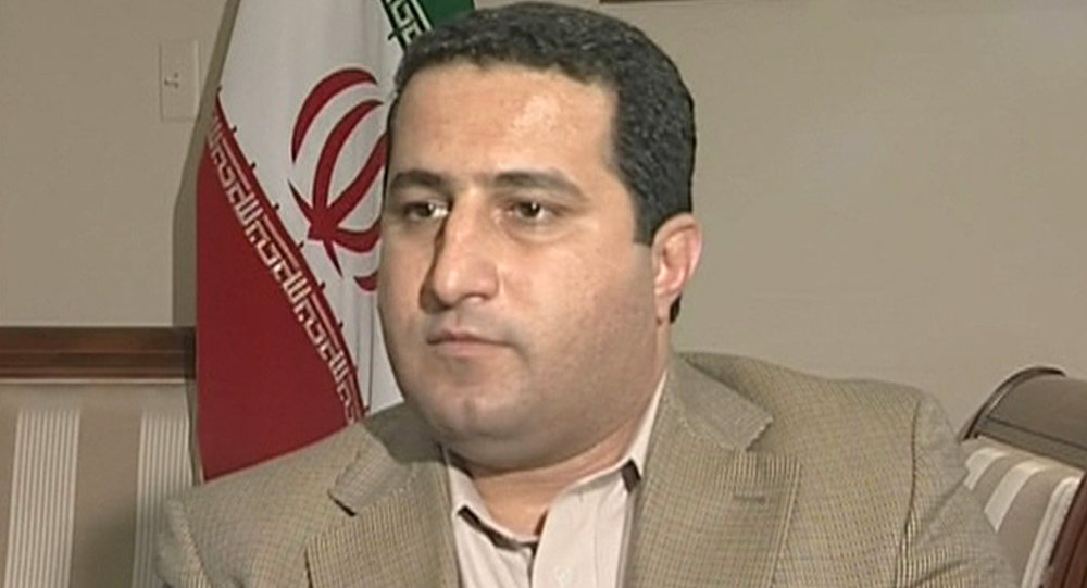 In this image taken from TV purports to show Iranian scientist Shahram Amiri speaking during an interview in the Iranian interests section of the Pakistan embassy in Washington D.C.
