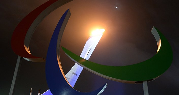 Lighting the Paralympic cauldron during the opening ceremony of the Sochi 2014 Winter Paralympics. (File)