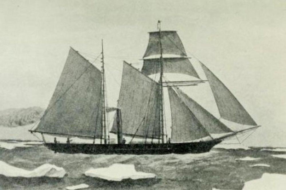 British steamer Thames. Engraving, XIX century