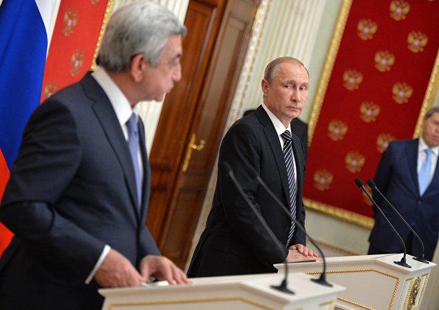 President Putin meets with Armenian President Sargsyan