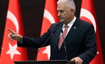Turkish Prime Minister Binali Yildirim at the Cankaya Palace in Ankara (File)