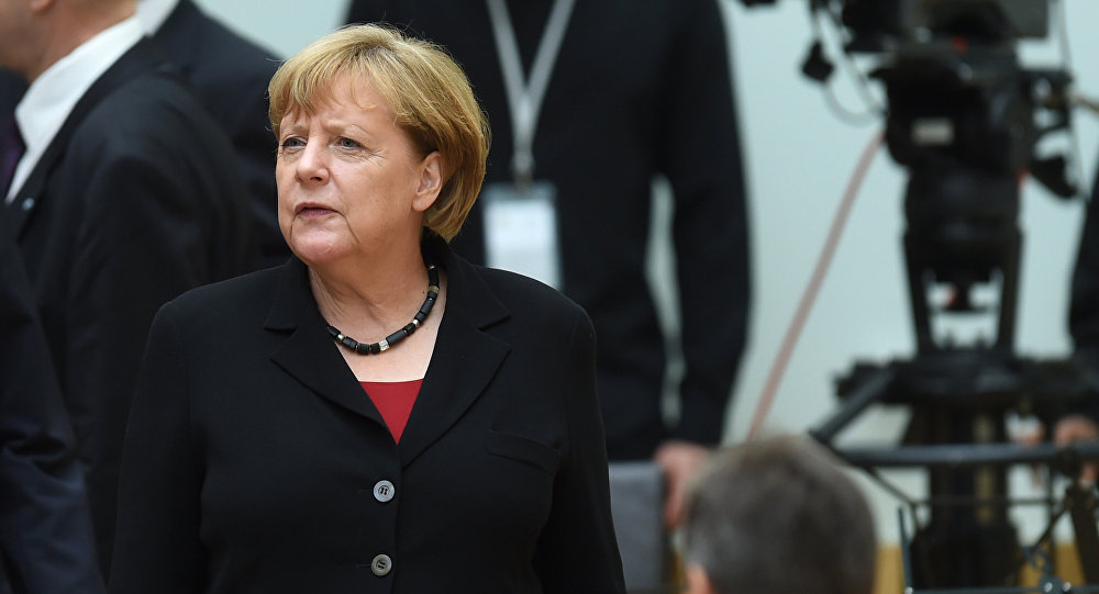 German Chancellor Angela Merkel waits ahead a commemoration ceremony at the Bavarian parliament in Munich, southern Germany, on July 31, 2016 for the victims of a shooting rampage in Munich on July 22