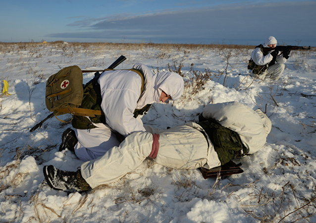 Motorized-rifle infantry of the Central Military District exercises in Novosibirsk