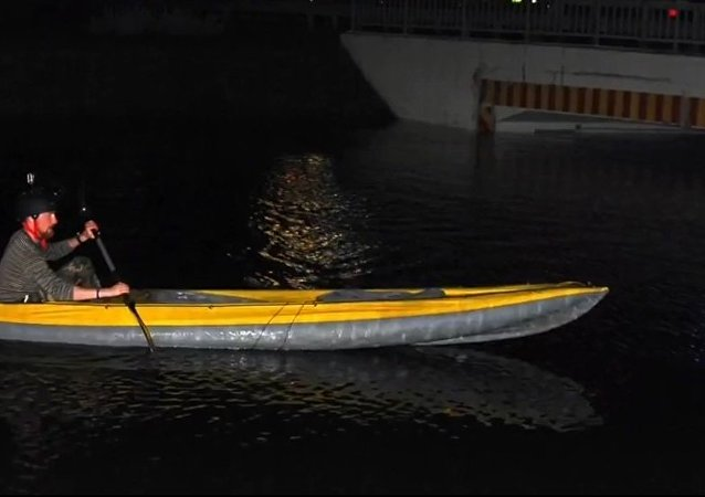 Meanwhile in Russia: Going Grocery Shopping on a Kayak