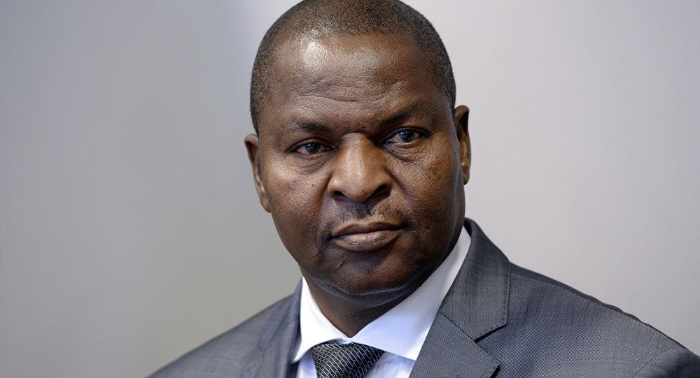 President of the Central African Republic Faustin-Archange Touadera