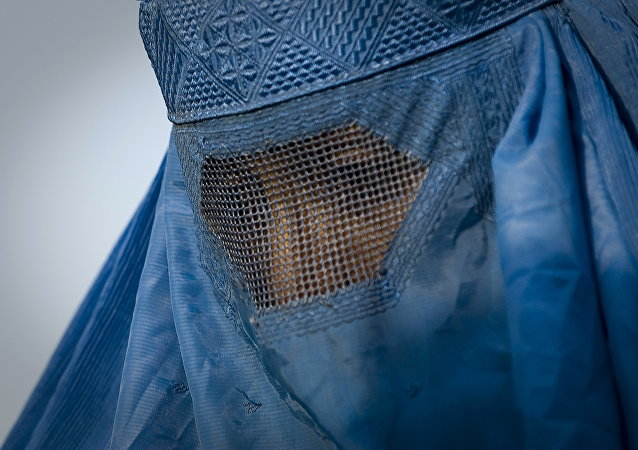 Woman under her burqa