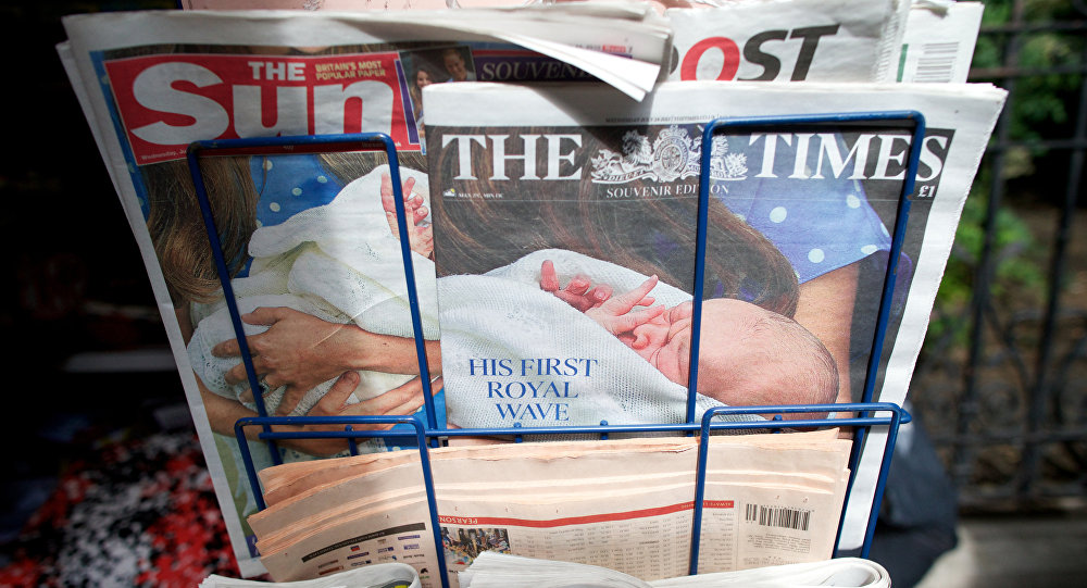 A selection of British national newspapers