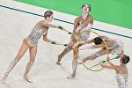 The Russian national team on Sunday won a gold medal at the women's rhythmic gymnastics all-around competition at the ongoing Olympic Games in Rio de Janeiro.