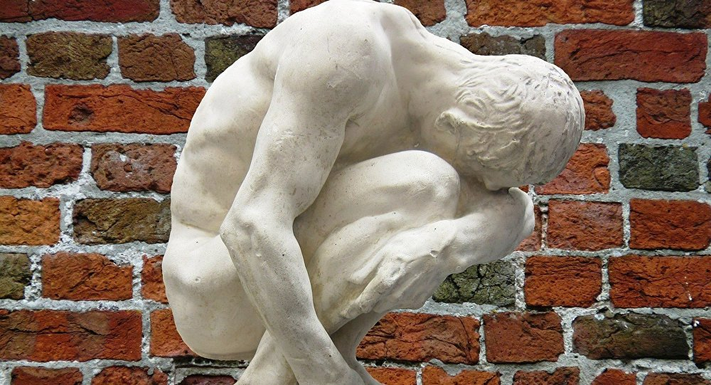 A statue of a man