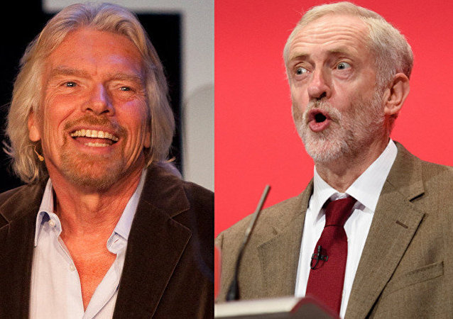 Sir Richard Branson, Jeremy Corbyn