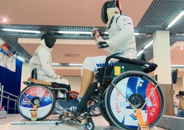 Member of the Russian Paralympic team for fencing, Roman Fedyaev