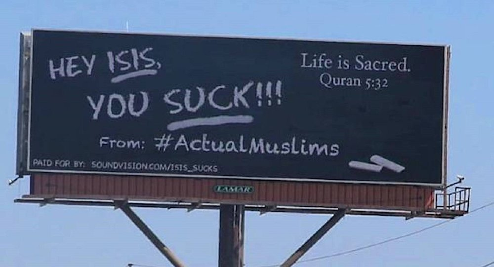 'ISIS, You Suck!': Muslim Group Behind Billboards Popping Up in Major US Cities