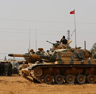 Turkish army tanks and military personal are stationed in Karkamis in the southeastern Gaziantep province, Turkey, August 25, 2016