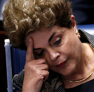 Brazil's suspended President Dilma Rousseff attends the final session of debate and voting on Rousseff's impeachment trial in Brasilia, Brazil, August 29, 2016