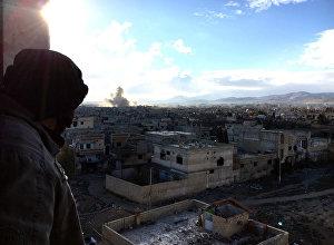 Syrian army fights in Syria's Daraya