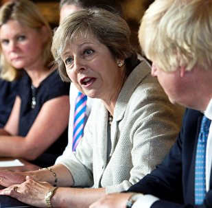 Theresa May holds a cabinet meeting at the Prime Minister's country retreat Chequers in Buckinghamshire to discuss department-by-department Brexit action plans, Britain August 31, 2016.