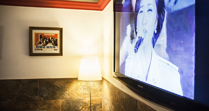 TV in the cafe usually broadcasts Korean shows