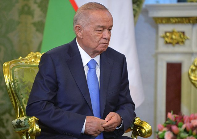 President of Uzbekistan Islam Karimov holds talks with Russian President Vladimir Putin in the Kremlin. (File)