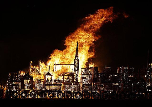 Britain London Burning