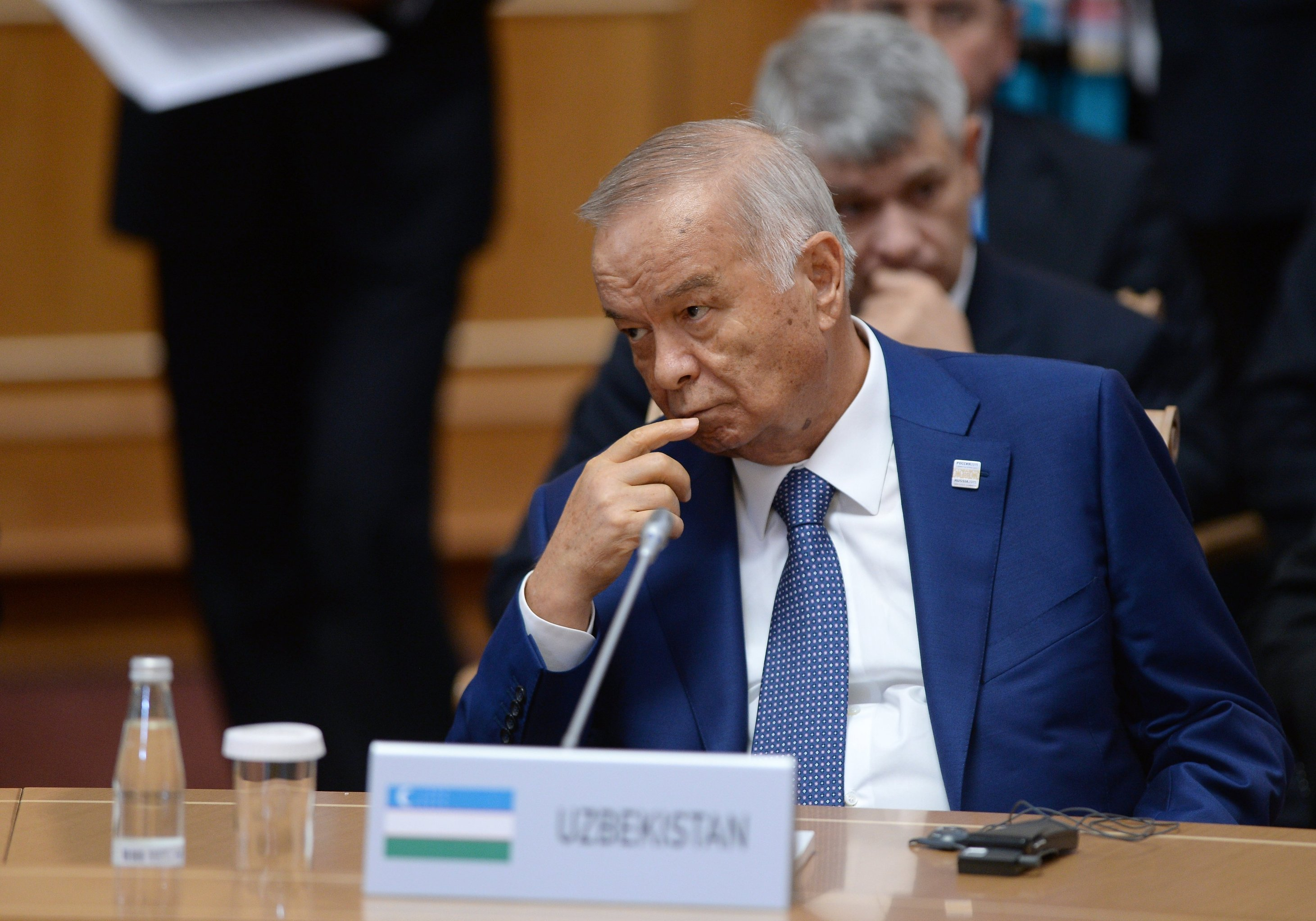 Uzbek President Islam Karimov at a meeting between BRICS leaders and the heads of other invited states. (File photo.)