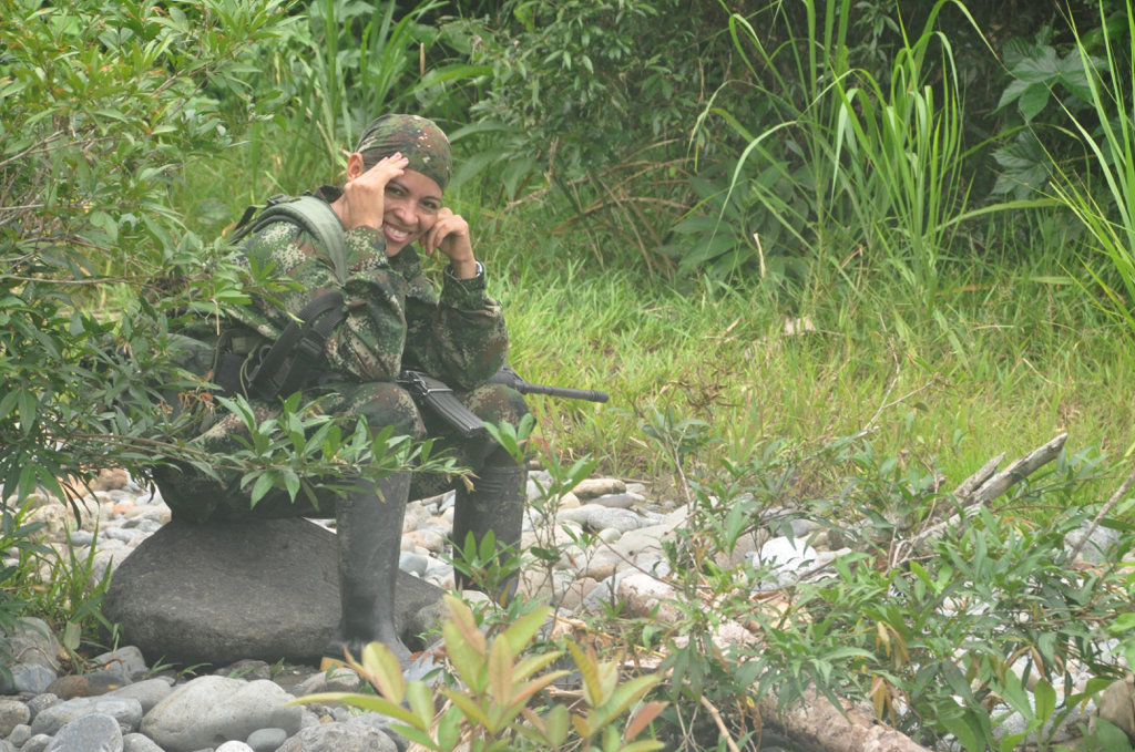 Olga, a FARC guerilla fighter