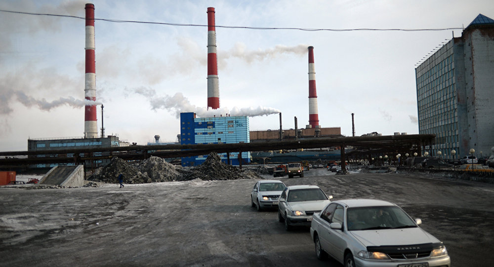 Copper plant in Norilsk.