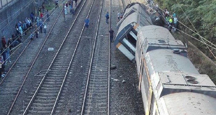 Train Derails in Northern Spain