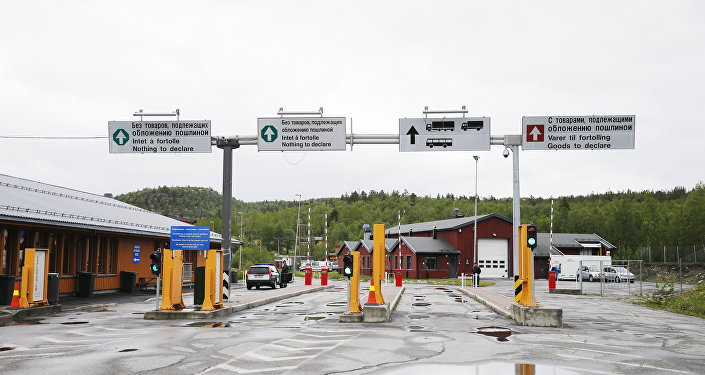 Storskog Boris Gleb border crossing between Norway and Russia near the Norwegian town of Kirkenes in the far north of the country