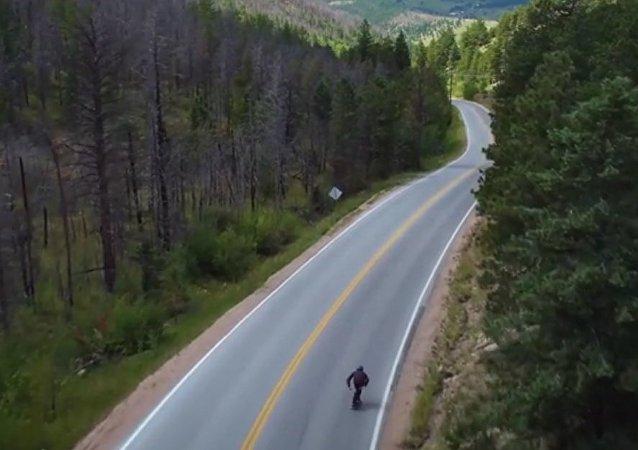 FASTEST SKATEBOARDER EVER! 89.41 mph/143.89 km/h - Kyle Wester