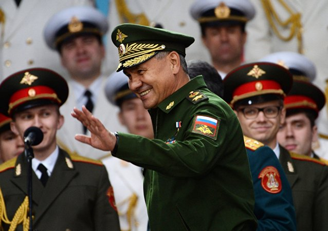 Russian Defense Minister Sergei Shoigu at the closing ceremony of the Army-2016 International Military and Technical Forum at the congress and exhibition center of the Patriot military and patriotic recreation park of the Russian Armed Forces in the Moscow Region