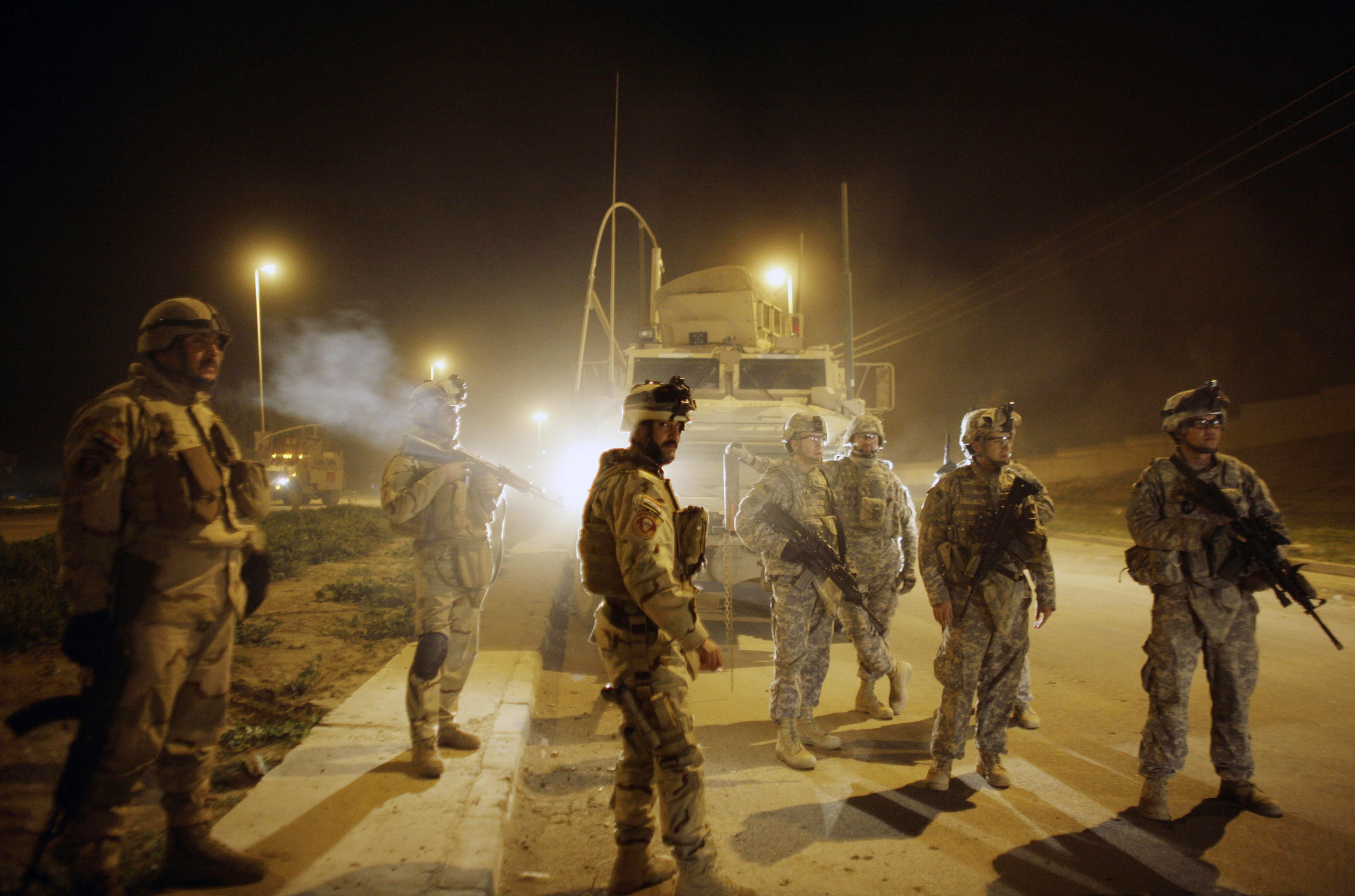 U.S. Army soldiers,Mosul, north of Baghdad, Iraq (File)
