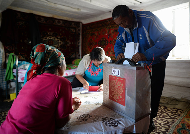 Early voting in remote areas of Altai for the 2016 parliamentary election