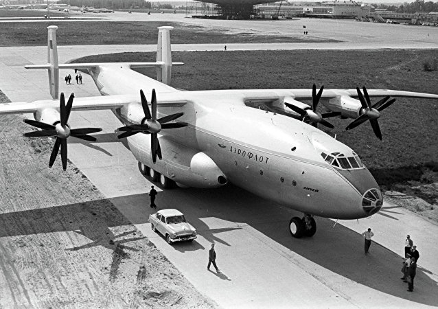 An Antonov An-22 Antei transport aircraft