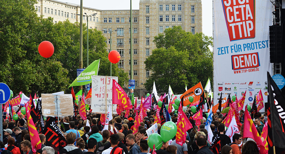 Hundreds Of Thousands Rally Against Ttip Ceta Trade Deals Across