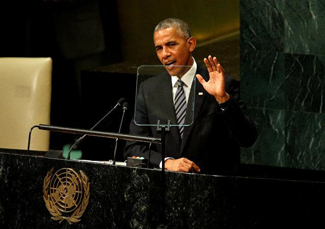 US President Barack Obama addresses the United Nations General Assembly in New York September 20, 2016.