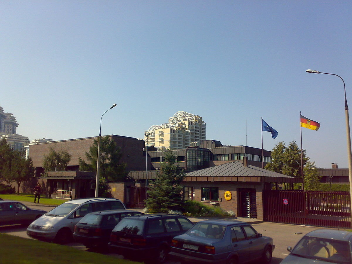 The embassy of Germany in Moscow