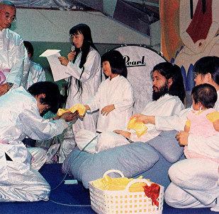 Shoko Asahara, leader of the Aum Shinrikyo doomsday cult