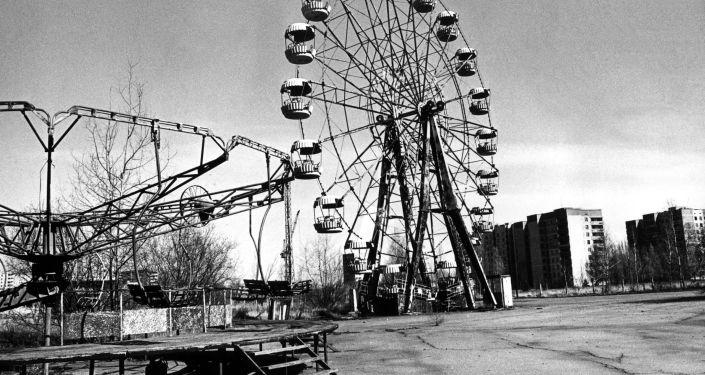 Amusement park at the abandoned city of Pripyat.