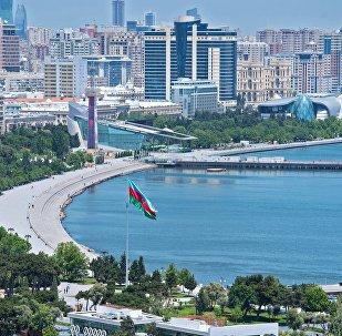 The Baku Boulevard on the Baku Bay Embankment.