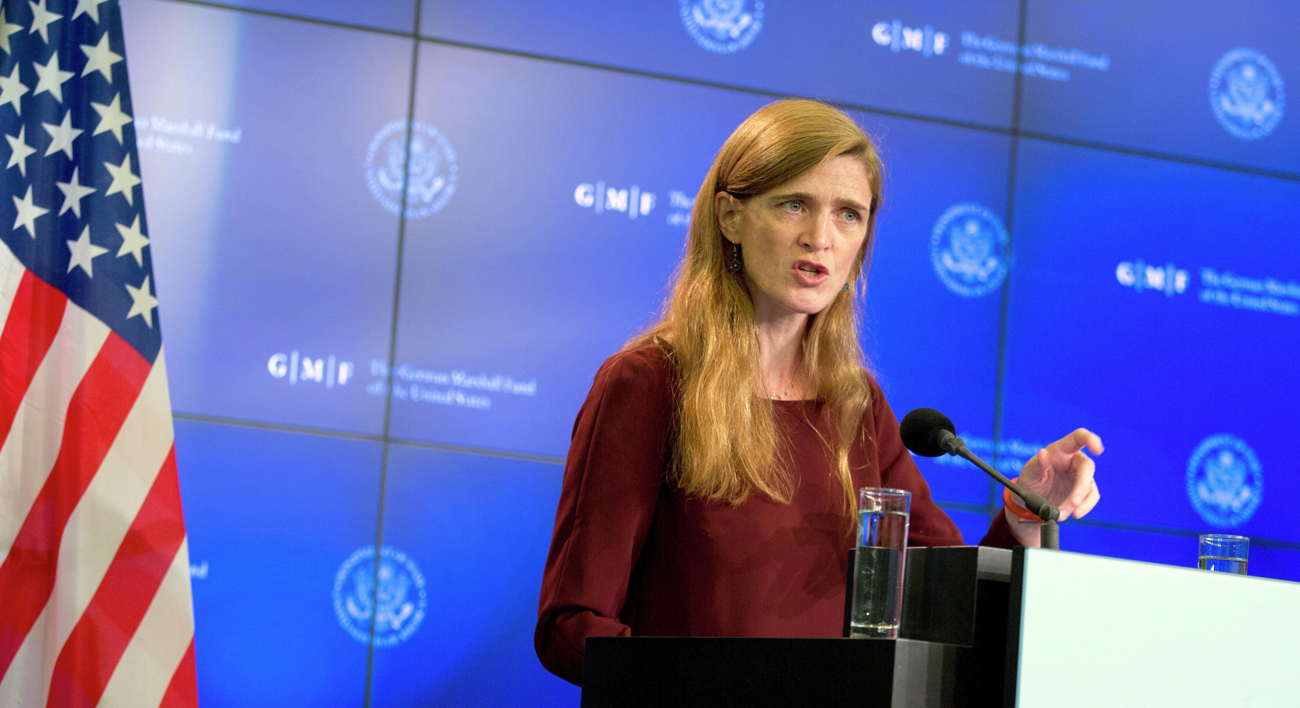 The US Ambassador to the United Nations Samantha Power