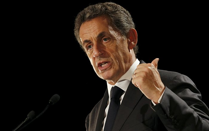 Nicolas Sarkozy, former head of the Les Republicains political party, attends a political rally in Franconville, France, as he campaigns for the French conservative presidential primary, September 19, 2016.