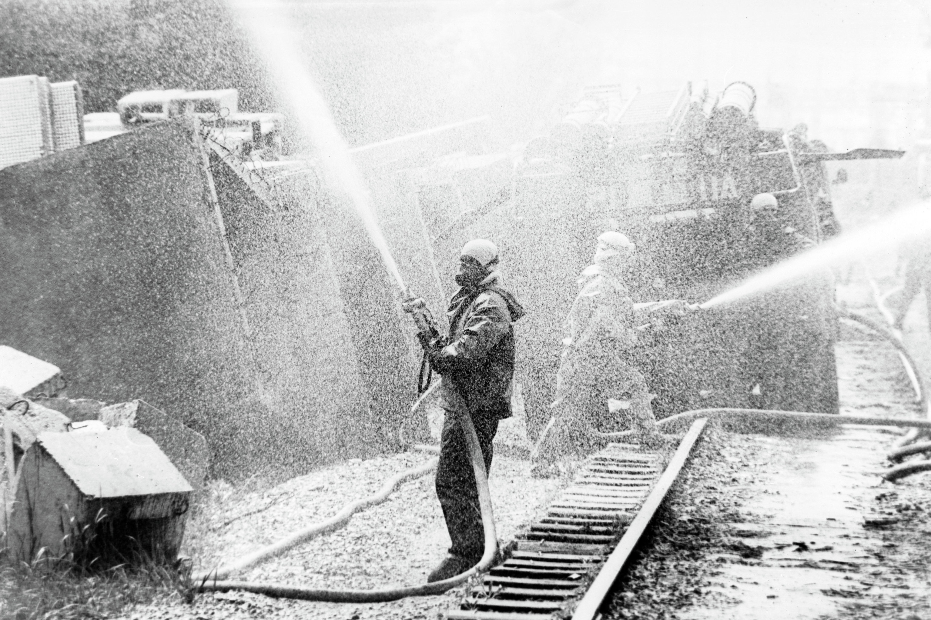 Decontamination on the Chernobyl Nuclear Plant site