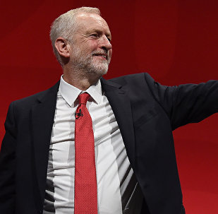 Opposition Labour party leader Jeremy Corbyn acknowledges the delegates as he receives a round of applause after speaking on the fourth day of the annual Labour Party conference in Liverpool, north west England on September 28, 2016.
