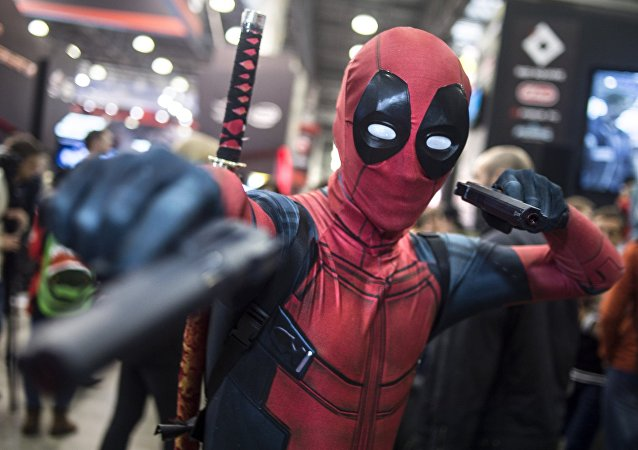 Konstantin as Deadpool, a character from Marvel universe