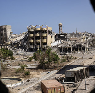 A general view shows destroyed buildings in the District 3 neighbourhood of Sirte, the last stronghold of Islamic State (IS) group in the coastal Libyan city, on September 29, 2016