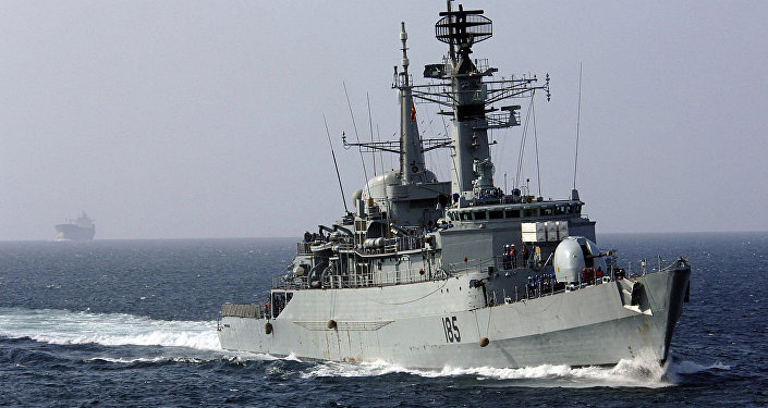 The Pakistani Naval frigate PNS Tippu Sultan (D-185)