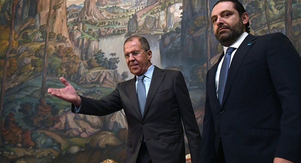 Russian foreign minister, Sergei Lavrov, and Saad Hariri, leader of Al-Mustaqbal – Future Movement, a political party in Lebanon