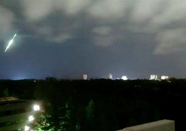 Plane Crash? Huge Fireball Sets Sky Above North America's East Coast Ablaze